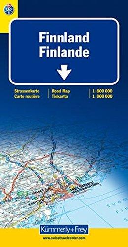 Finnland 1:800.000/1:900.000 Straßenkarte. Mit Sehenswürdigkeiten (Kümmerly+Frey Strassenkarten)