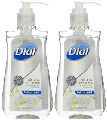 Dial Antibacterial Hand Soap - White Tea & Vitamin E - 7.5 oz - 2 pk