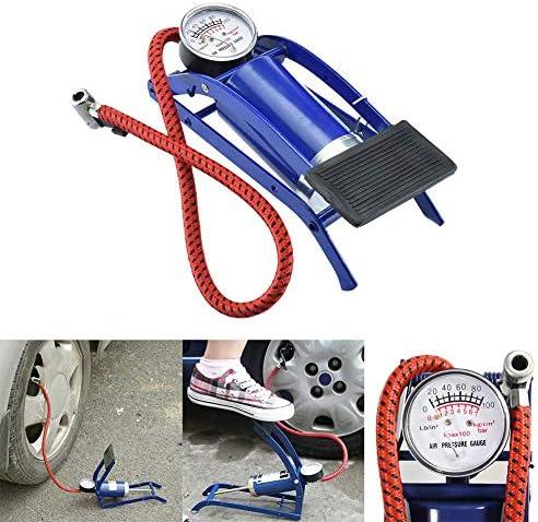 Shentesel 足で操作するエアーポンプ 空気注入式マットレス ボール バイク タイヤ 空気入れ