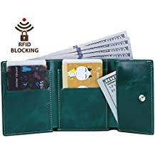 Itslife Slim Minimalist Front Pocket RFID Blocking Leather Wallets for Women