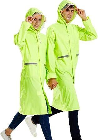Poncho de Lluvia Impermeable Reutilizable para Adultos con Capucha Cord/ón y Cinta Reflectante Chubasqueros Impermeable Universal Rain Jacket para Mujeres Hombres
