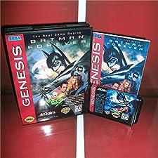 Batman Forever US Cover with Box and Manual For Sega Megadrive Genesis Video Game Console 16 bit MD card - Sega Genniess - Sega Ninento, 16 bit MD Game Card For Sega Mega Drive For Genesis