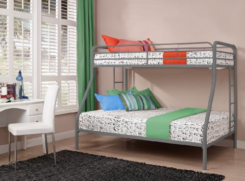 Dhp Twin Over Full Bunk Bed With Metal Frame And Ladder