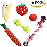 Cheap SCENEREAL Best Small Dog Chew Toys – Cute Durable Stuffed Plush Rope Puppy Toys for Tiny Dogs Cats 6 Pcs