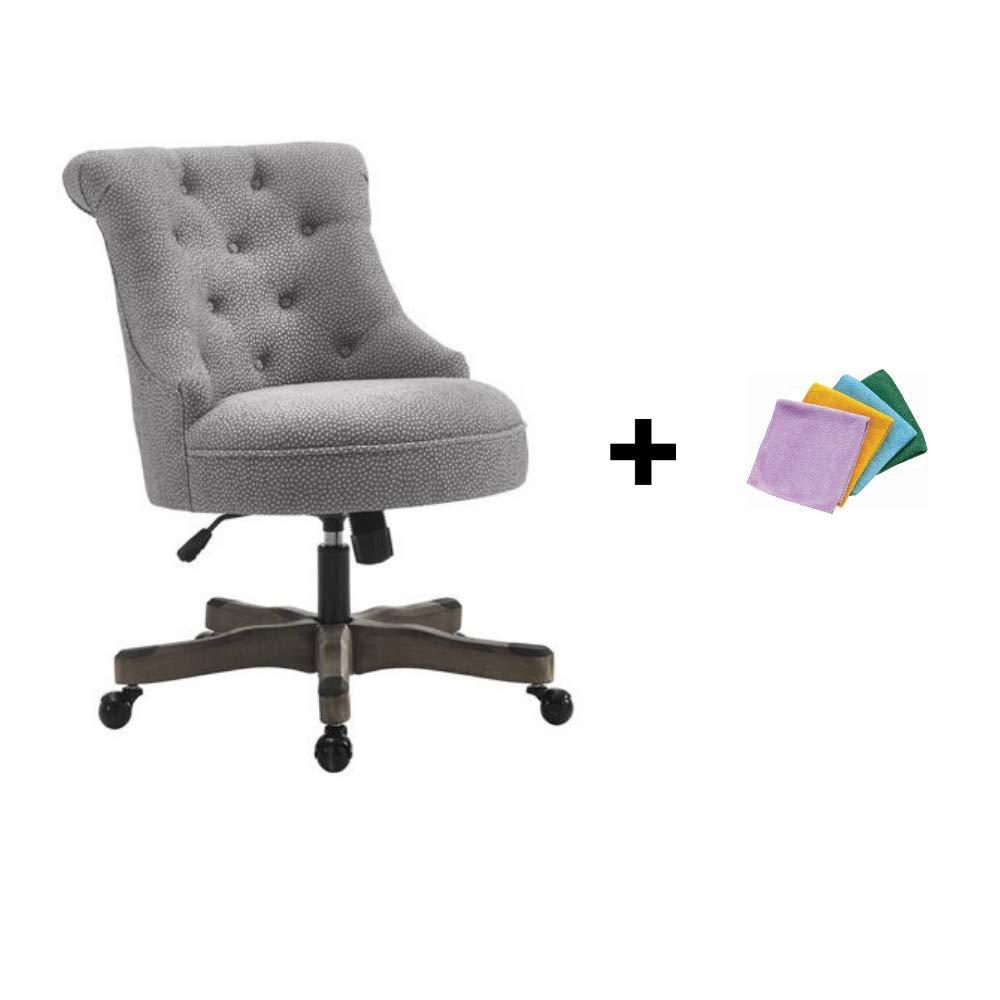 Linon Sinclair Executive Office Chair, Gray + Reusable Cloth