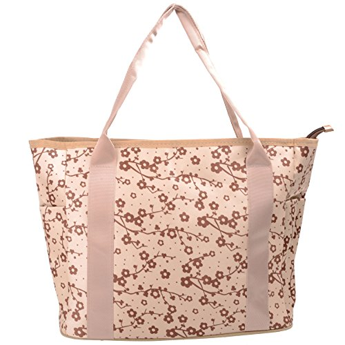 Babyhugs® Cute diseño cambiador 3piezas Bolso cambiador de pañales bolsa Set incluido morado Tote - Large Flowers Tote - Brown Flowers