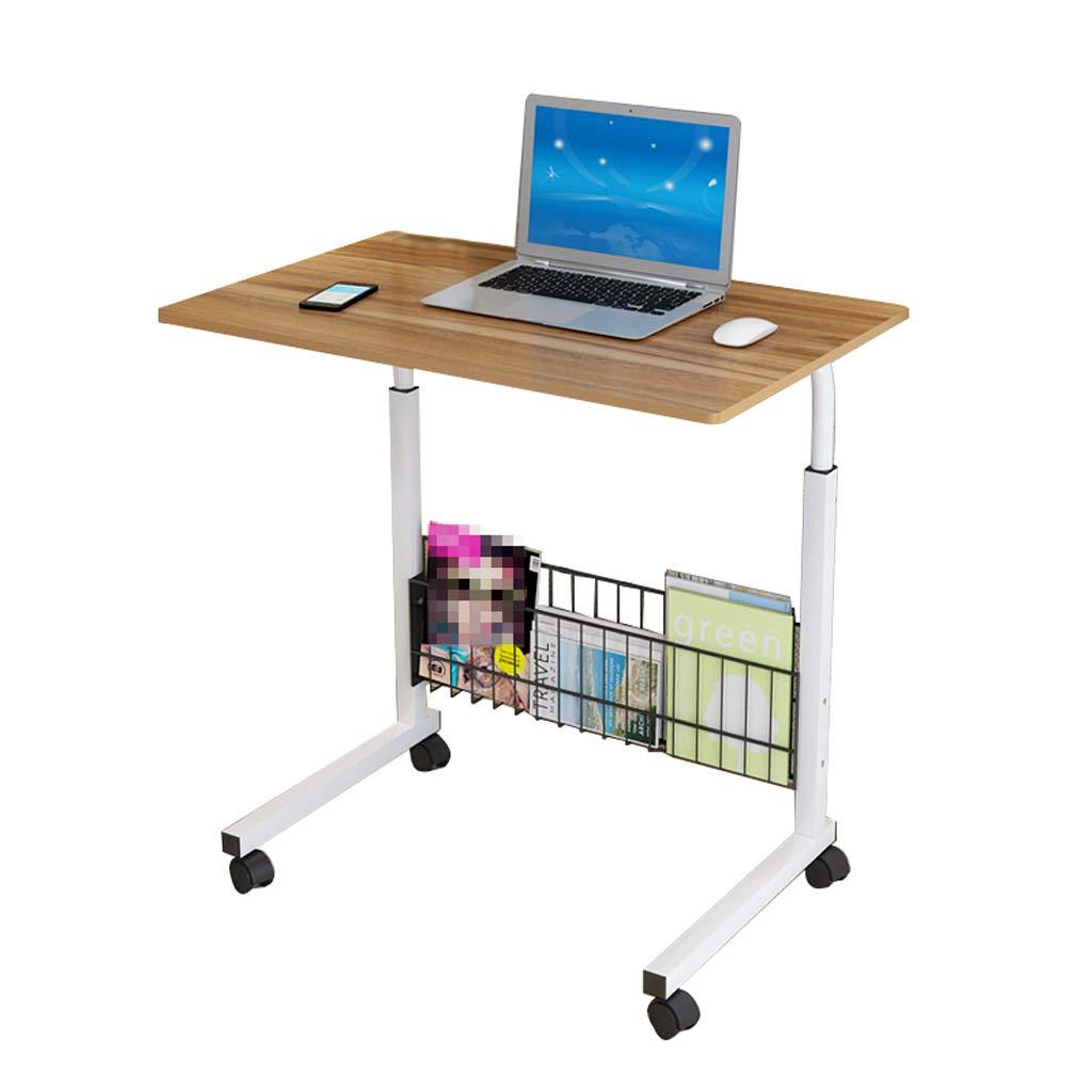 GY ラップトップテーブル、 立っている リフト デスクとワークステーション、 木製パネル モバイルポータブル ベッドサイドソファ トロリートレイのサイドテーブル、 竹色、70-90cm (色 : Brown, サイズ さいず : 60*40cm) 60*40cm Brown B07KPFY7NJ