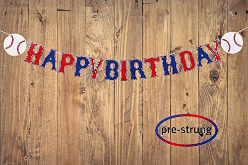 Taygate Baseball Concessions Banner Sports Birthday Party Decorations Photo Props (Happy Birthday)