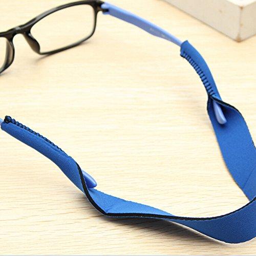 Aowa Brillenband, Nackenriemen, Sportband für Sonnenbrille, Band für Brillen zur uneingeschränkten Bewegung blau