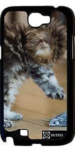 Funda para Samsung Galaxy Note 2 (GT-N7100) – Gatito y ratón de plástico - ref 403