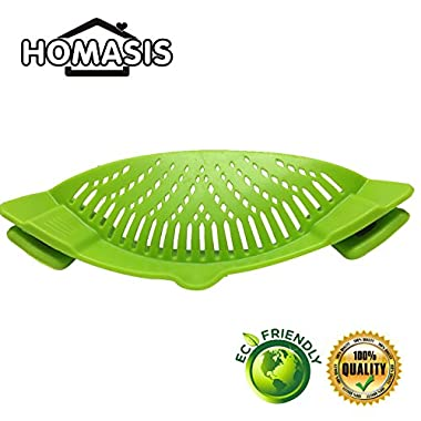 HOMASIS - Food Clip-on Strainer, for Spaghetti, Noodles,Ground beef,Vegetables,Fits All Pots