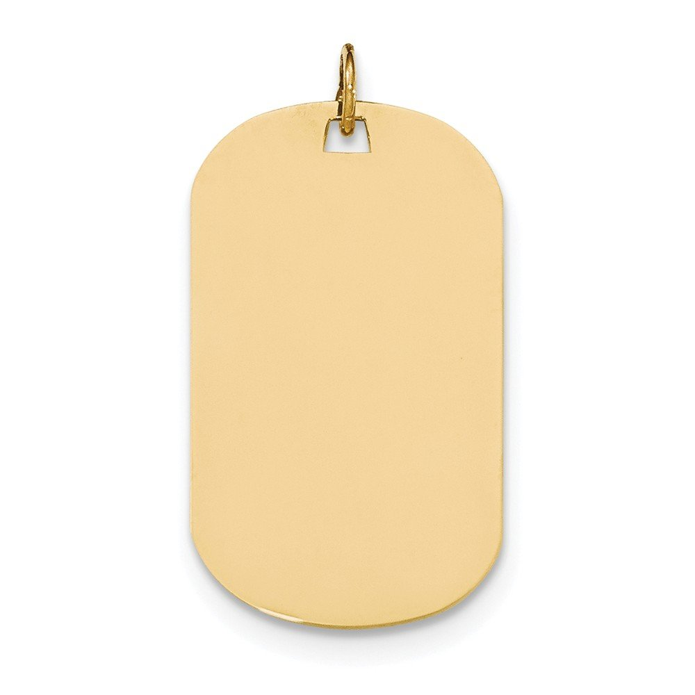 Top 10 Jewelry Gift 14k Plain .035 Gauge Engraveable Dog Tag Disc Charm