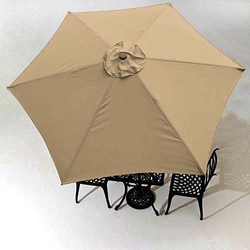 Yescom 9' Patio Umbrella Replacement Canopy 6 Rib Outdoor Yard Deck Cover Top