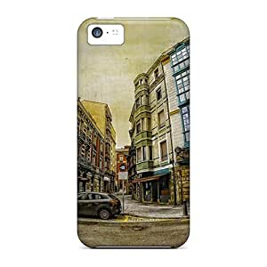 NikRun Case Cover Protector Specially Made For Iphone 5c Fantastic Townscape In Fish Eye Hdr by supermalls