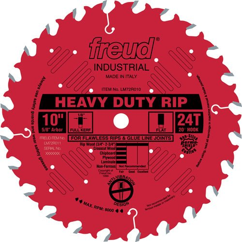 18in Blade (Freud LM72R018 Heavy Duty Industrial Ripping Saw Blade 18-Inch x 36t Flat Top 1 Inch Arbor Coated)