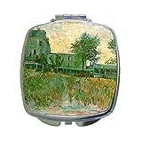 The Restaurant De La Sirene At Asnieres By Vincent Van Gogh Compact Mirror