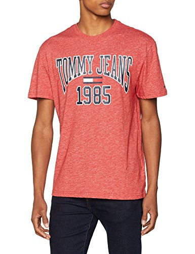 Collegiate shirt Rosso Tee T Jeans Tjm 602 Uomo samba Tommy R6AExXwq