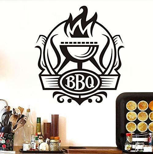 Etiqueta De La Pared Cocina Bbq Insignia Cocina Bricolaje ...