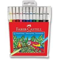 Faber-Castell 5062155130 Keçeli Kalem, 12'li Poşet, 12 Renk