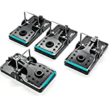 Rat Trap Outdoors, Set of 4, Reusable Indoor Pest Control Solutions for Trapping Large Rats, Chipmunks Squirrels. Instant Hum