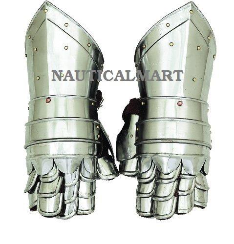 Metal Armor Hand Gloves By Nauticalmart by NAUTICALMART