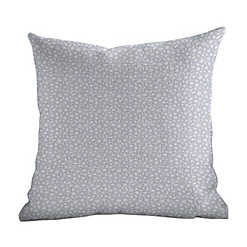 Matt Flowe Throw Pillow Covers Diamonds,Sketch Style Crystals Hearts Pentagon Rectangle and Rhombus Shapes Hand Drawn,Blue Grey White,Home Decor Sofa Cushion Case 16