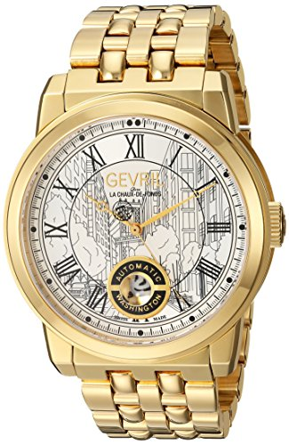 Gevril-Mens-Washington-Swiss-Automatic-and-Stainless-Steel-Casual-Watch-ColorGold-Toned-Model-2622B