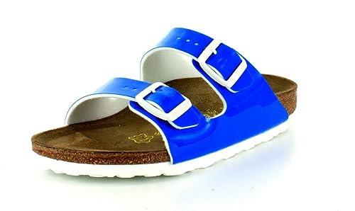 01f233531737 Birkenstock Womens Arizona Sandal Neon Blue Patent Birko-Flor Size 36 N EU ( 5