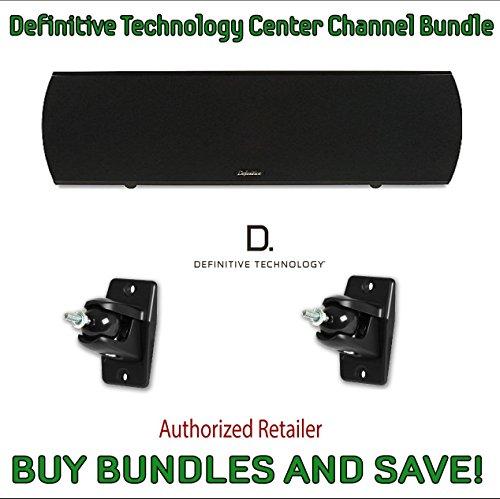 Definitive Technology ProCenter 2000 Compact Center Speaker (Black) & Definitive Technology Pro-Mount 90 - Pair (Black) by Definitive Technology