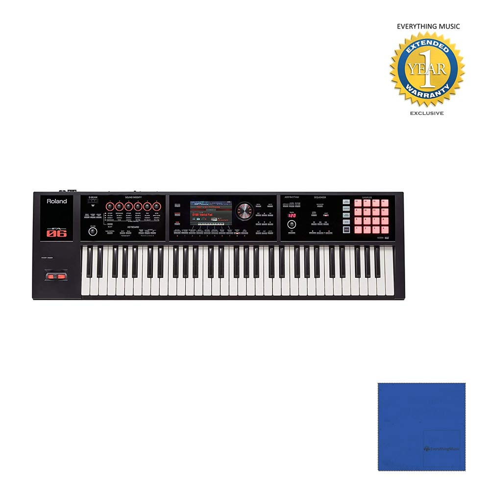 Roland FA-06 61-Key Workstation with Microfiber and 1 Year Everything Music Extended Warranty by Roland