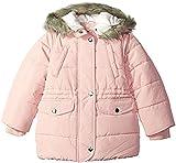 Carter's Little Girls' Cozy Hood Puffy Jacket Coat, Fall Blush, 4/5