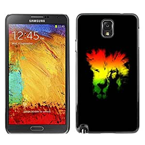 GagaDesign Phone Accessories: Hard Case Cover for Samsung Galaxy Note 3 - Rasta Lion