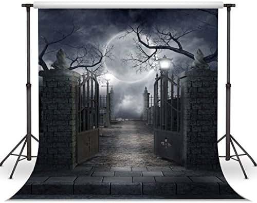10X10FT Halloween Backdrops Vinyl Photo Background Photography Backdrop Moon Night Backdrop Studio Prop CP-52-1010
