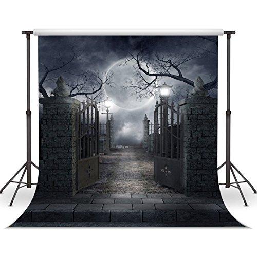 10X10FT Halloween Backdrops Vinyl Photo Background Photography Backdrop Moon Night Backdrop Studio Prop CP-52-1010 ()