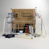 Master Vintner Wine Making Equipment Starter Kit with Plastic Big Mouth Bubbler and Glass Carboy Fermentors