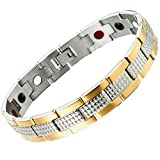 Best Jewelry Everyday Gifts For Boyfriends - Stainless Steel Mens Jewelry Link Magnetic Bracelet Review