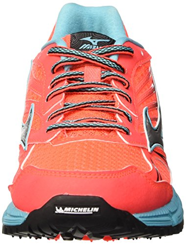 Mizuno Capri Shoes Pink Fiery Running Trail Daichi Coral Wave Women's Silver vPTxqrv