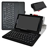 All-New Fire HD 8 2017 Bluetooth Keyboard Case,Mama Mouth Slim Stand PU Leather Cover With Romovable Bluetooth Keyboard For 8'' All-New Fire HD 8 2017/Fire HD 8 2016,Black
