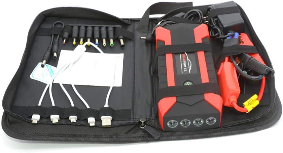 Arrancador de Coches Powerbank (hasta 6, 0L Gasolina o 5, 0L Diesel), 1000A 20000mAh 12V IP68 Impermeable con Pantalla LCD Carga Rápida QC3.0 USB Linterna LED