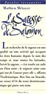 La sagesse de Salomon par Métayer