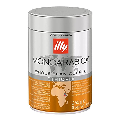 Illy Monoarabica Whole Bean Coffee, Ethiopia, 8.8 Ounces (Pack of - Whole Bean Illy