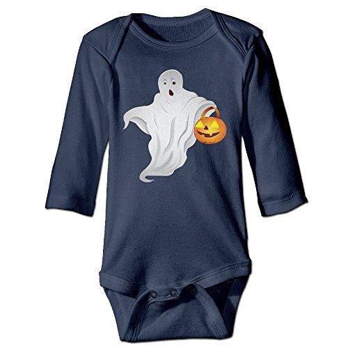 ElishaJ Halloween Babys Unisex Long Sleeve Bodysuit Onesie Navy Size 12 Months (Halloween Jon Bellion)