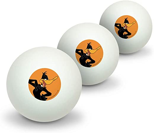 GRAPHICS /& MORE Looney Tunes Daffy Duck Novelty Table Tennis Ping Pong Ball 3 Pack