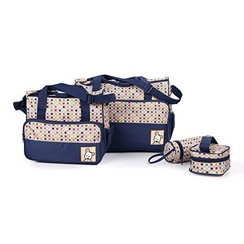 Marke New Baby Wickeltasche, Set Mummy Schulter Handtasche Wickeltasche Set blau