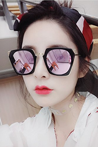 d0d9be4eac3 Amazon.com  Generic Sunglasses women girls lady 2018 Korean star with a large  frame sunglasses retro fashion personality sun glasses round face  Home    ...