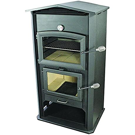 HomComfort PW100 Indoor Outdoor Wood Oven Black