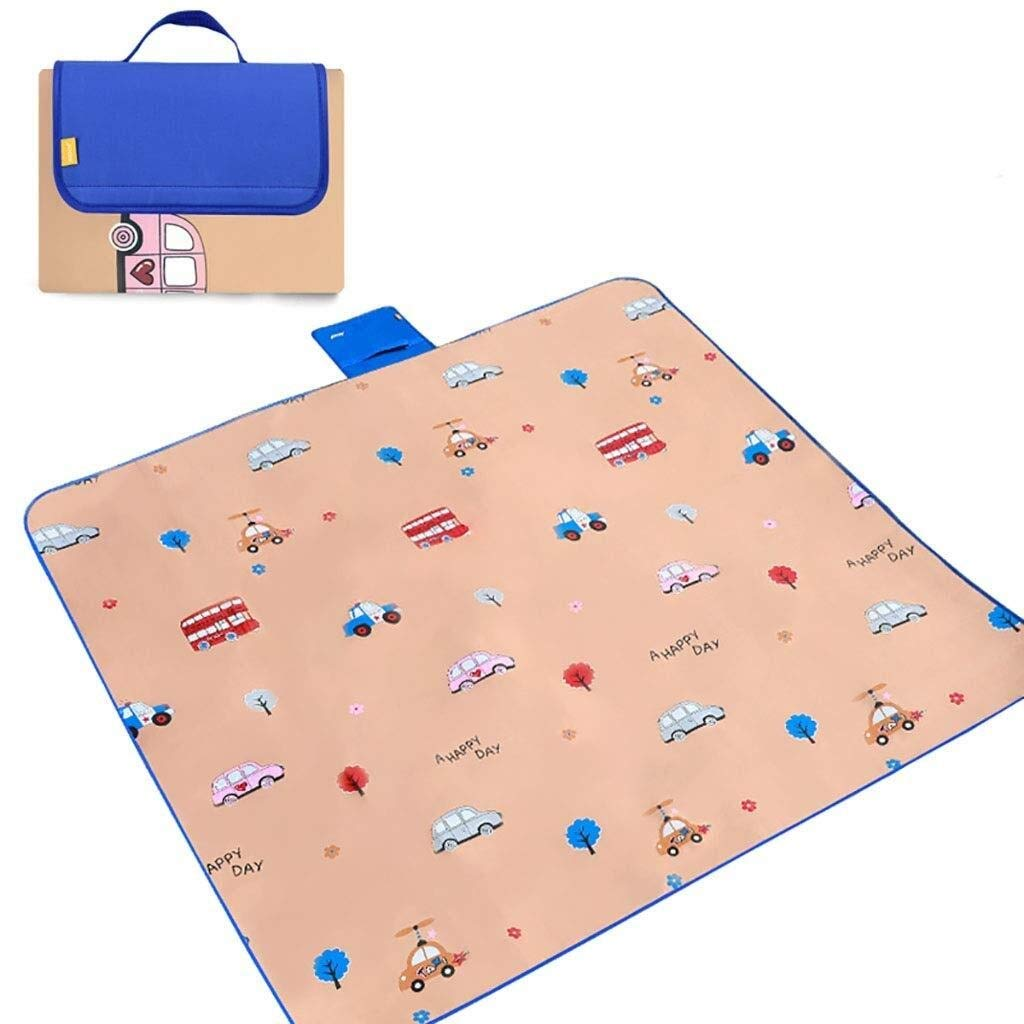 ZKKWLL Picnic Blanket Large Outdoor Picnic Blanket Foldable Beach mat Picnic Blanket Waterproof sandproof Outdoor Picnic Carpet mat with Handle Camping Picnic mat (Color : C) by ZKKWLL