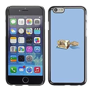 LECELL--Funda protectora / Cubierta / Piel For iPhone 6 -- Lápiz Grinder --
