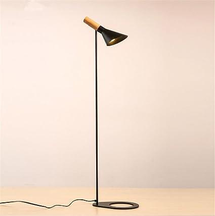 Lámparas de pie Madera Sencilla lámpara de pie de Hierro ...
