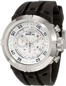 Invicta Men's 0840 I-Force Contender Chronograph White Dial Black Polyurethane Watch